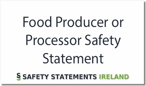 Food Producer Safety Statement Template