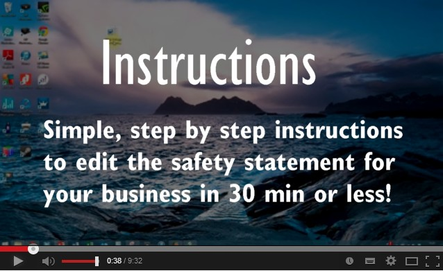 How to edit a safety statement instructions